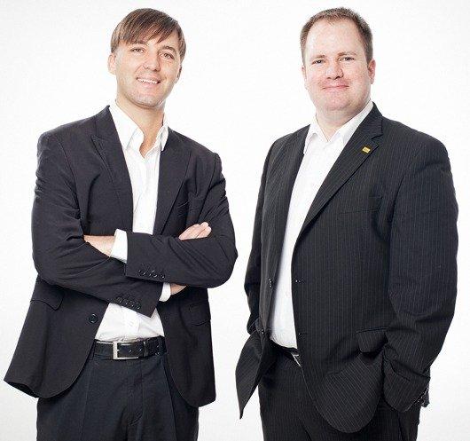 Geschäftsführer Mario Mally und Programmchef Dirk Klee von ANTENNE VORARLBERG