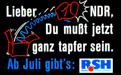 Eines der ersten Plakate von R.SH