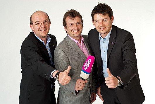 Das Moderationsteam von Radio Arabella (v. l. n. r.): Christian Horvath, Mag. Bernhard Robotka, Christian Zöttl (Bild: Radio Arabella)