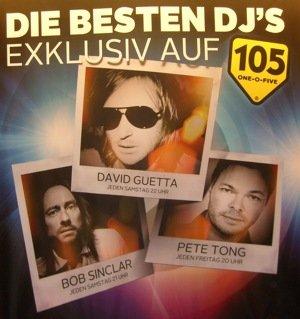 Plakat von Radio 105 zur DJ Night