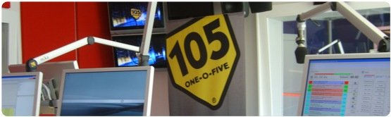 Studio von Radio 105-big