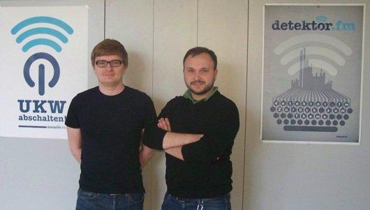 detektor.fm-Macher Christian Bollert und Marcus Engert (Bild: Bernd Reiher)