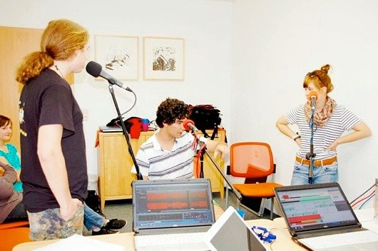 Livesendung auf dem Jugendradiocamp