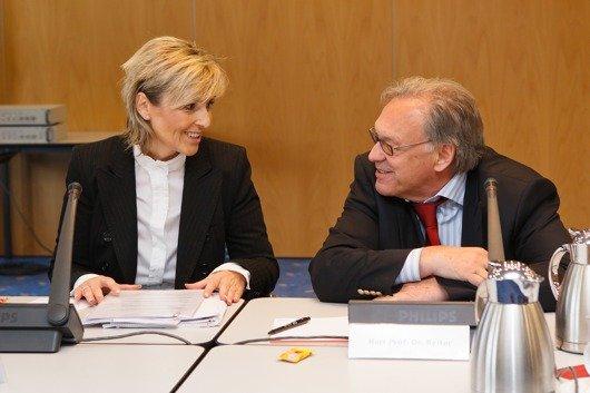 Neue und alte Intendanz: Karola Wille und Udo Reiter (Bild. MDR/MarcoProsch)