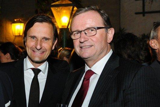 Dr. Klaus Schweighofer (GF Antenne Steiermark/VÖP) und Präsident Karlheinz Kopf (ÖVP-Klubobmann)