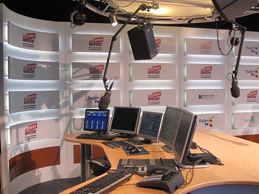 """Das Messeradio-Studio von """"die neue welle"""""""