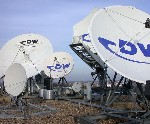 Satellitenantennen der Deutschen Welle