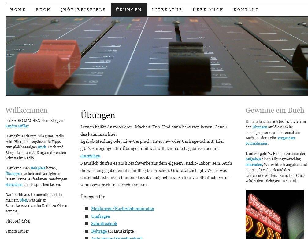 Zu dem Buch schreibt Sandra Müller auch ein Blog: radio-machen.de