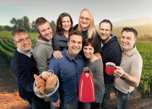 Das Team der RPR1. Guten Morgen Show: Kunze & Nadja mit der Morgenfamilie (Foto: RPR1)