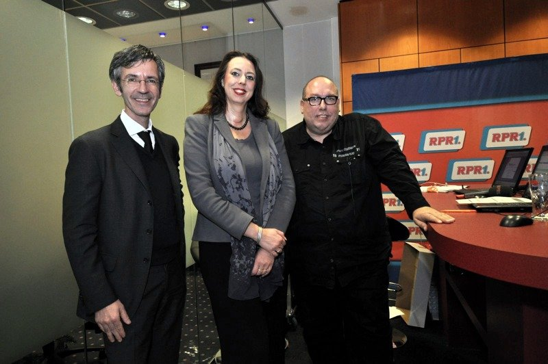 bigFM und RPR1.Geschäftsführer Kristian Kropp, Bürgermeisterin Frau Dr Susanne Wimmer-Leonhardt, RR1.Moderator Bob Murawka