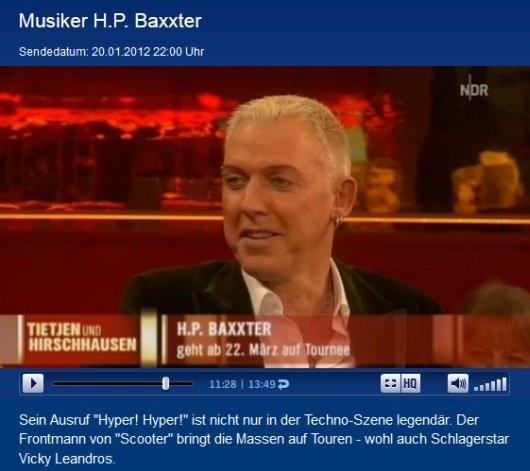 """H.P. Baxxter (Scooter) in der NDR Talk-Show """"Tietjen & Hirschhausen"""" (Bild: ndr.de)"""