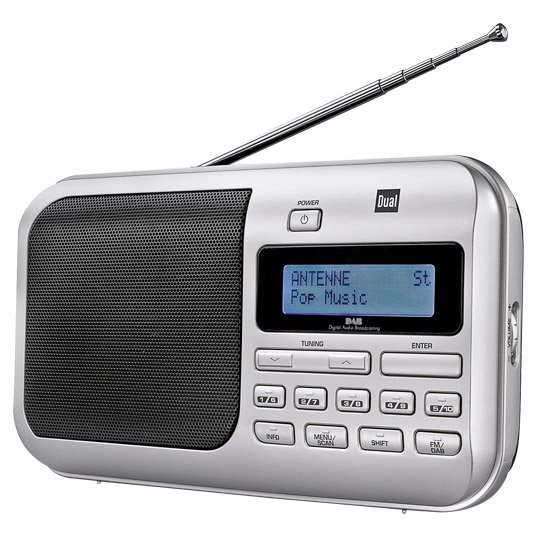 Dual, Portables DAB+ (Digital Audio Braodcasting)-/UKW- Radio DAB4