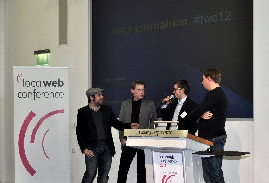 Diskussion über Datenjournalismus auf der Local Web Conference