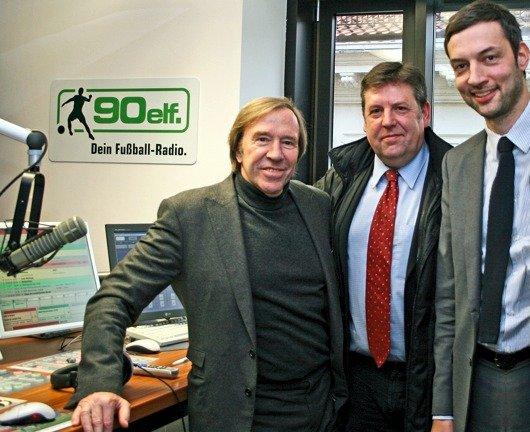 Günter Netzer, Wilfried Mohren, Florian Fritsche (Bild: 90elf)