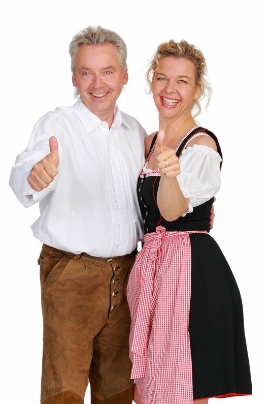 Karlheinz Hörhammer und Valerie Weber haben Grund zur Freude