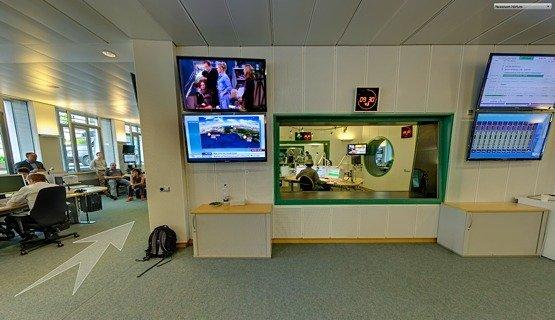 Virtuelle Studioführung (Quelle: NDR 1 Radio MV)