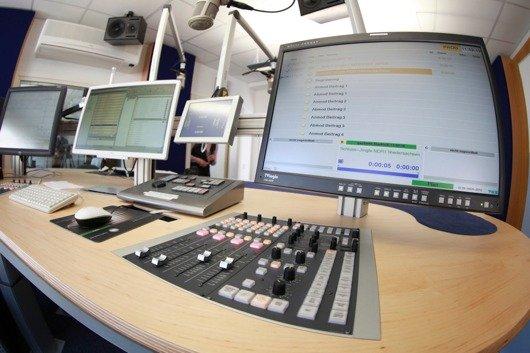 Das neue NDR-Multimediastudio (Bild: NDR/Axel Herzig)