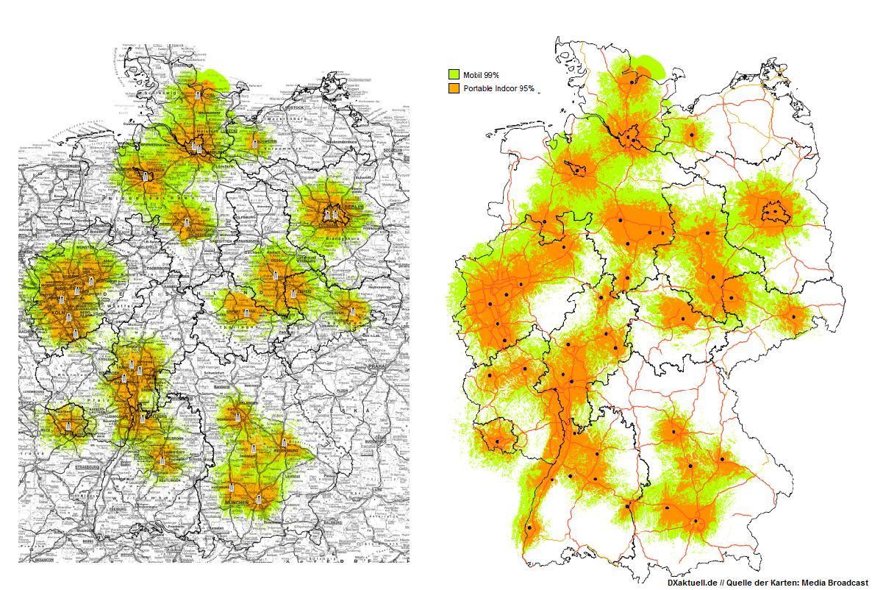 DAB+ Senderausbau: Weiterhin viele Täler ...