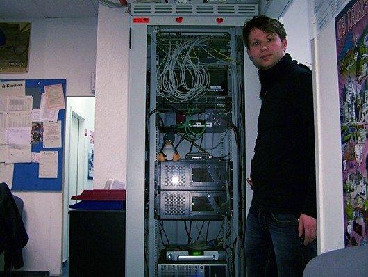 Michael Wallies Technikschrank (Bild Bernd Reiher 1012)