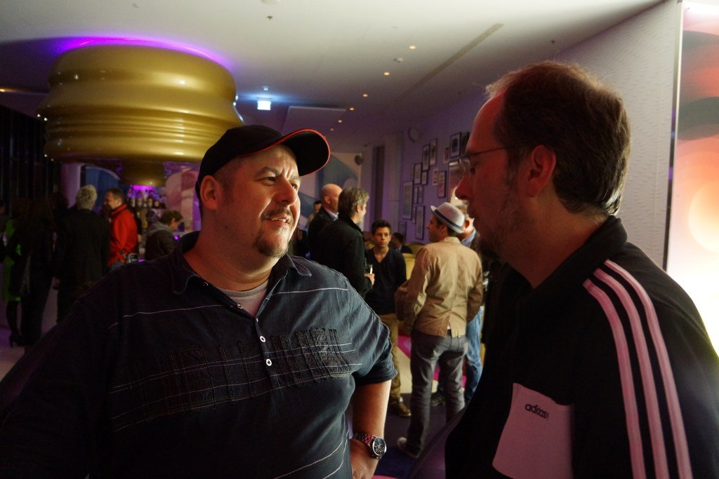 Franky und John Ment Ment auf dem Broadcast Symposium 2012