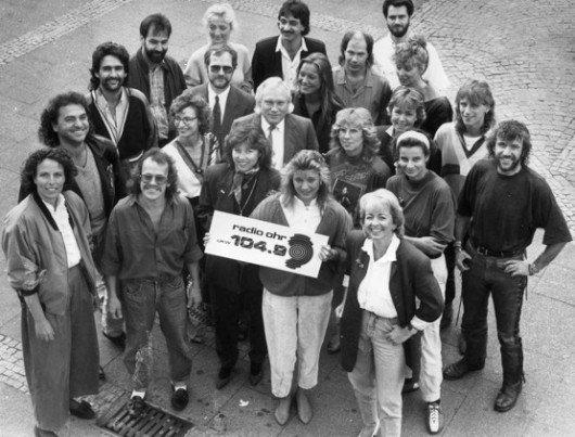 Das Team von - damals noch - RADIO OHR in den 80er Jahren