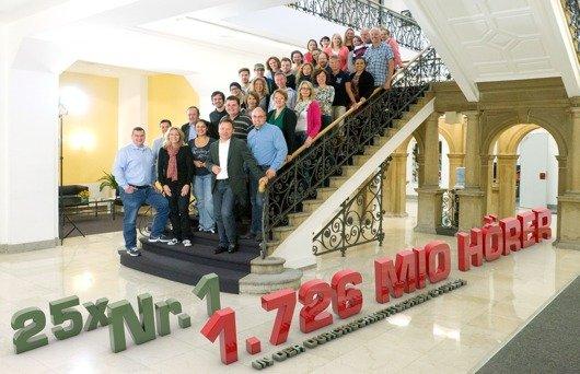 Das Radio NRW-Team freut sich über 1,7 Mio Hörer (Bild: Radio NRW)
