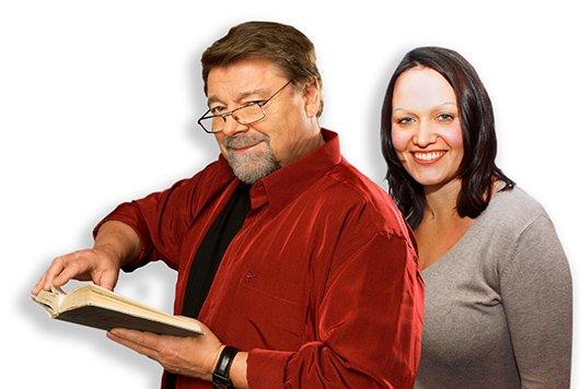 Jürgen von der Lippe und Sarah Schiwy