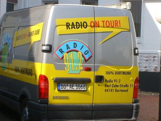 Firmenbus von Radio 91.2 (Bild: Hendrik Leuker)