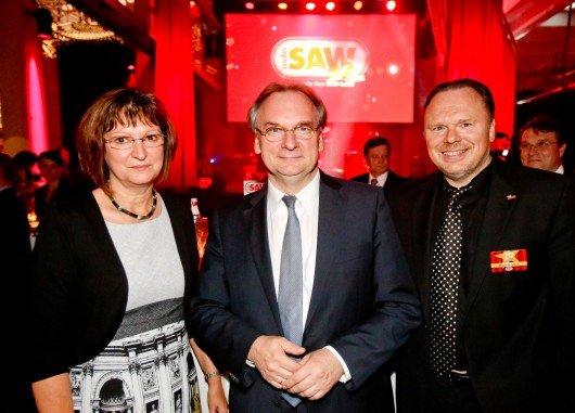 Geschäftsführer und Programmdirektor Mario A. Liese (re) begrüßte als Gäste auch Ministerpräsident Dr. Reiner Haseloff und seine Ehefrau Gabriele
