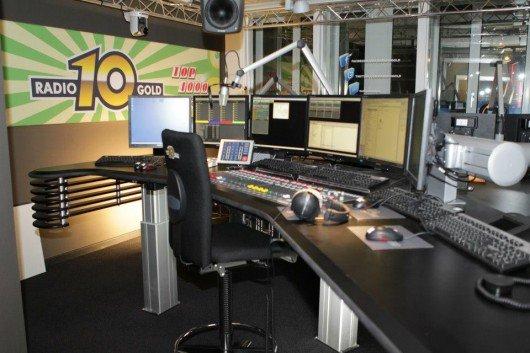 Blick ins neue Sendestudio von Radio 10 Gold