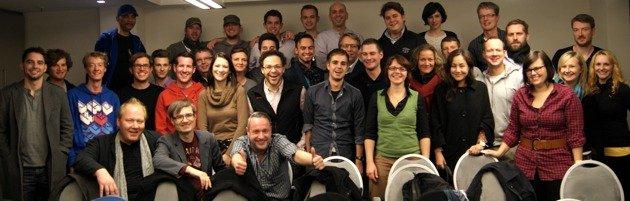 Alle Teilnehmer des ersten RADIOSZENE-Seminars