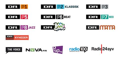 wichtigste Digitalradio-Stationen Dänemarks