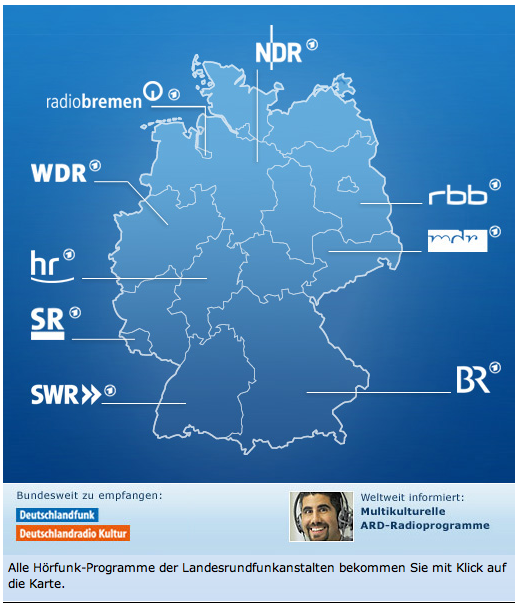 Alle ARD-Wellen (Quelle: ARD.de)