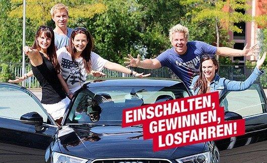 """""""Hitfahrzentrale"""": Beim """"größten Radiogewinnspiel Mitteldeutschlands"""" verschenkt MDR JUMP 15 Audi A3 (Bild: MDR JUMP Homepage)"""