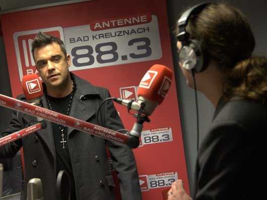 Robbie im Interview mit Daniel Ott (Bild: Radio Group)