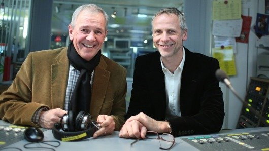 Fritz Egner und Fred Kogel im BAYERN 3-Studio (Bild: BR / Markus Konvalin)
