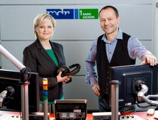 Die MDR 1 RADIO SACHSEN-Morgenmoderatoren Diana Fritzsche & Maik Teschner machen Sachsen munter.