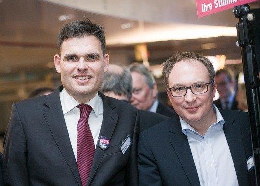 Dirk van Loh (Geschäftsführer REGIOCAST), Lars Gerdau (Geschäftsführer LandesWelle Thüringen)