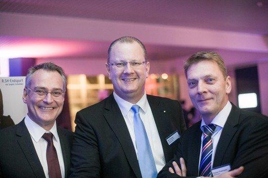 Florian Ruckert (Geschäftsführer RMS), Kai Fischer (Geschäftsführer Hit-Radio Antenne Niedersachsen), Rainer Poelmann (Geschäftsführer REGIOCAST)