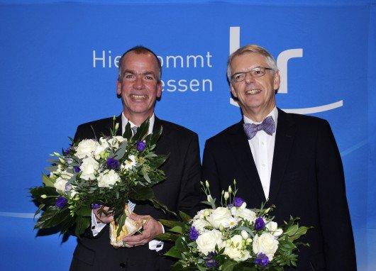 Rundfunkratsvorsitzender Jörn Dulige (li.) und hr-Intendant Dr. Helmut Reitze (re.)  Foto: hr/Christian Bender