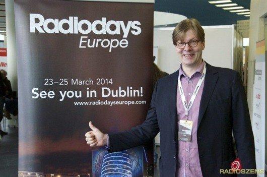 Stefan Möller (AER) freut sich schon auf die Radiodays Europe 2014 in Dublin