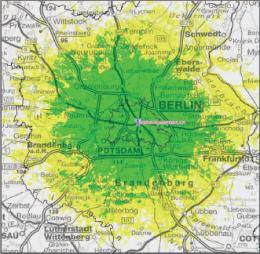 DAB-Empfangsprognose Kanal 7 Berlin