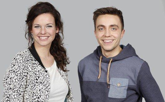 Zu den neuen Moderatoren bei 1LIVE diggi gehören Lisa Kestel und Philipp Isterewicz (Bilder: WDR/Fußwinkel)