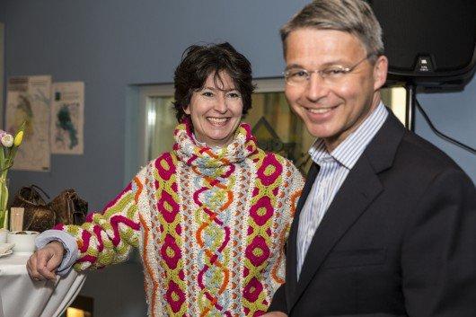 Martin Spieler (Chefredaktor der Sonntagszeitung und ehemaliger Radio 24 Mann) und Ursula Klein (Herausgeberin des kleinreport).