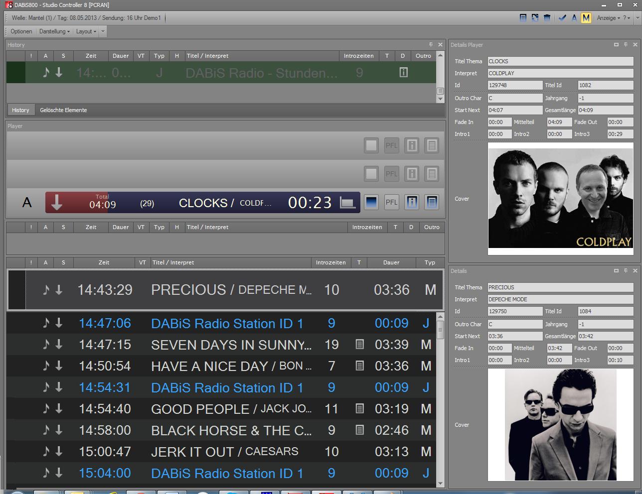 Die beiden Ansichten des Studio Controller 8 können auf einem Bildschirm verkoppelt oder auf 2 Bildschirmen angeordnet werden.