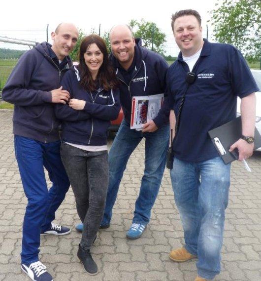 Das Antenne MV Team: Wetter-Werner, Tatjana Brand, Timo Close und PD Peer Wellendorf (Bild: Antenne MV)