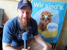 PULS-Programmchef Thomas Müller im Interview mit RADIOSZENE (Foto: Björn Czieslik)