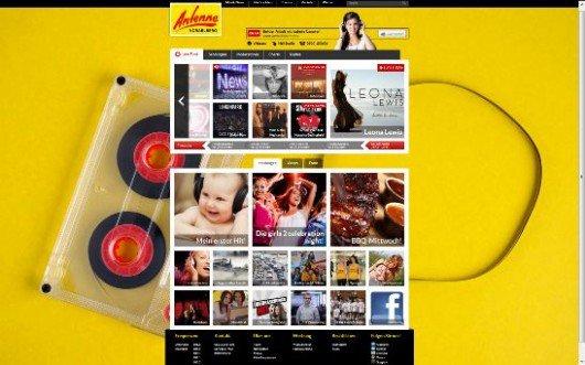 Antenne Vorarlberg Screenshot Homepage