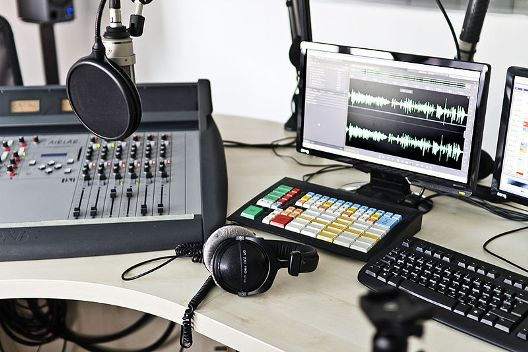 Blick ins das detektor.fm-Studio in Leipzig