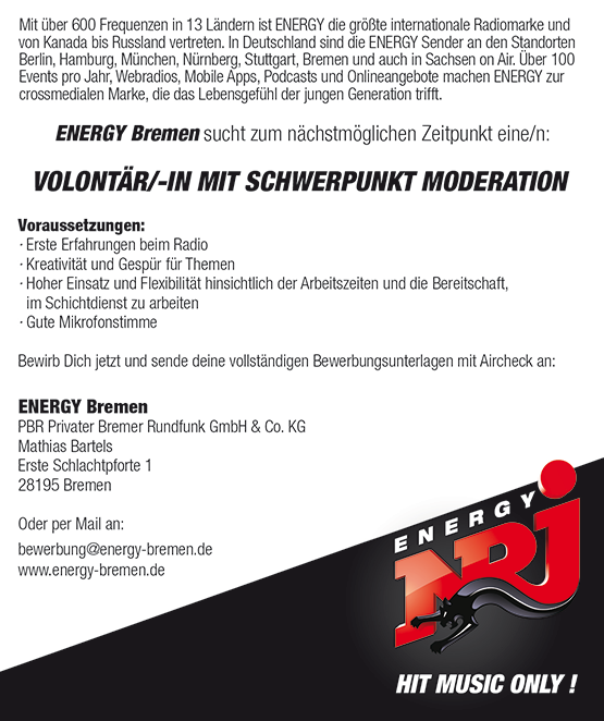 ENERGY-Bremen_Anzeige_Volo-110713